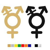 Plexiglas WC pictogram Genderneutraal