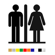 Plexiglas Toiletbordje Vrouw & Man