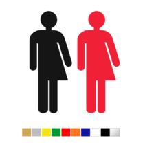 Plexiglas Toiletsymbool Genderneutraal