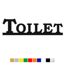 Plexiglas Toiletbordje Toilet