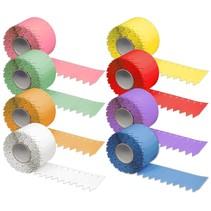 2000 Steeketiketten in 25 x 120mm gekleurd PVC op rol