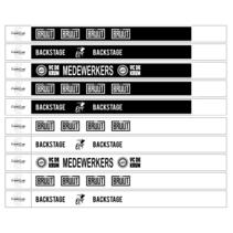Polsbandjes zwart-wit bedrukt eigen ontwerp