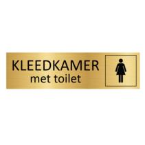 Goudkleurig Deurbordje Dames kleedkamer met toilet