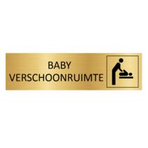 Goudkleurig Deurbordje Baby verschoonruimte