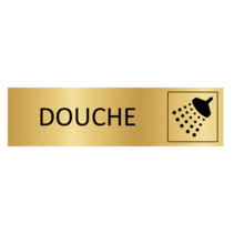 Goudkleurig Deurbordje Douche
