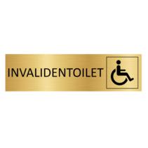Goudkleurig Deurbordje Invalidentoilet