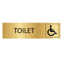 Goudkleurig Deurbordje Toilet Invalide