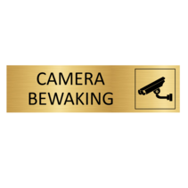 Goudkleurig Deurbordje Camerabewaking