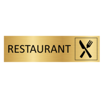 Goudkleurig Deurbordje Restaurant