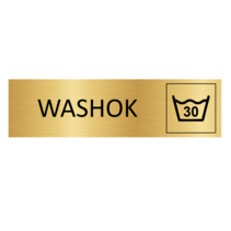 Goudkleurig Deurbordje Washok