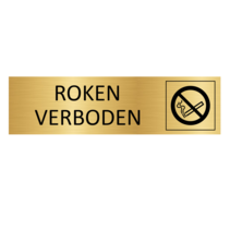 Goudkleurig Deurbordje Roken Verboden