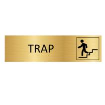 Goudkleurig Deurbordje Trap