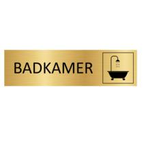 Goudkleurig Deurbordje Badkamer