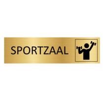 Goudkleurig Deurbordje Sportzaal