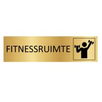 Goudkleurig Deurbordje Fitnessruimte
