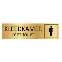 Goudkleurig Deurbordje Heren kleedkamer met toilet