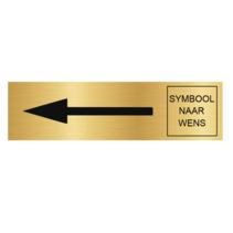 Goudkleurig Deurbordje Pijl Links en Symbool