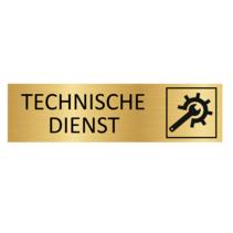 Goudkleurig Bordje Technische Dienst