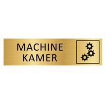 Goudkleurig Bordje Machinekamer