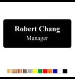 CombiCraft Acrylaat naambadge met 2 regels tekst
