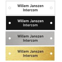 Intercom Naamplaatje met gaatjes 70x20mm