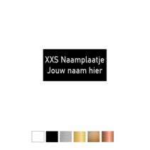 XS-Naamplaatje 20x10mm