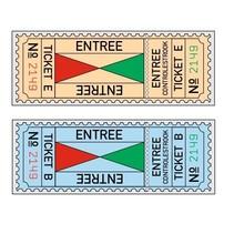 XL-Entreekaartjes in boekjes, Serie A t/m F