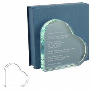 Glazen hart, 105x105x19mm