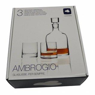 Whiskeykaraf met 2 whiskeyglazen, 1x 0,7 liter en 2x 320ml