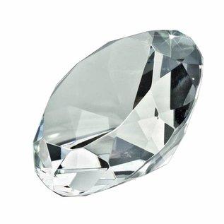 Glazen diamant, doorsnede: 12cm, dikte: 6cm