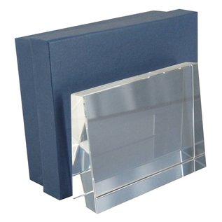 Rechthoekige glazen staander, 140x105x35/17,5mm