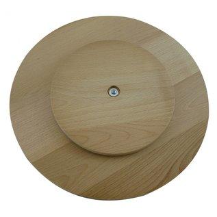 Draaiplateau van beuken, rond 40x4cm