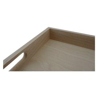 Dienblad van beuken, 55x36x5,5cm