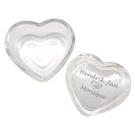 Glazen hart met deksel 84x76mm