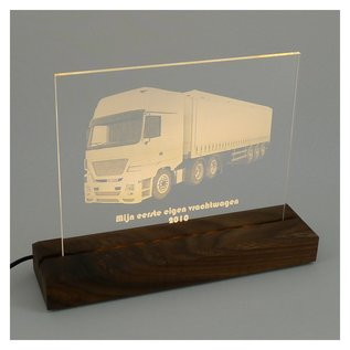 Plexiglas (perspex) met LED-verlichting, 23x19cm