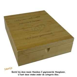 Bredemeijer Theedoos 9 vaks bamboe, 22x27x8cm