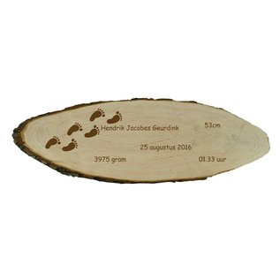 Boomschors van elzenhout, ca. 60x20x1,9cm