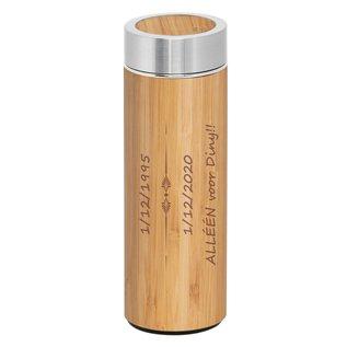 Dubbelwandige thermosfles, bamboe, 430ml