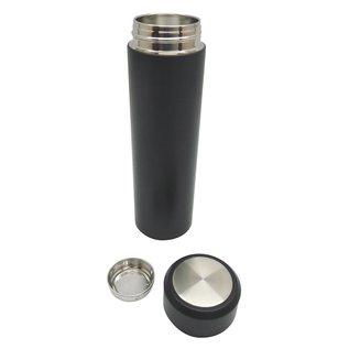 Dubbelwandige thermosfles, mat zwart, 470ml