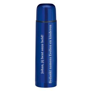 Dubbelwandige thermosfles, blauw, 500ml