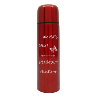 Dubbelwandige thermosfles, rood, 500ml