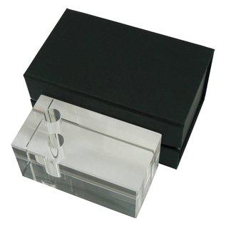 Glazen pennenhouder voor 2 pennen, 100x50x50mm