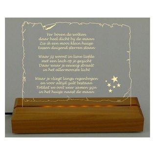 Plexiglas met LED-verlichting, briefpapier liggend, 28cm