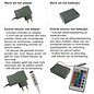 Fotolijst met plexiglas en LED-verlichting, staal grijs