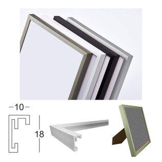 Fotolijst met plexiglas en LED-verlichting, staal goud