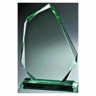 Glazen award, 220x150x15mm