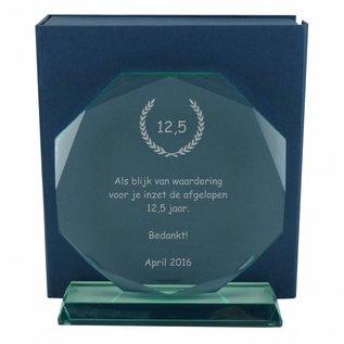 Glas award, 200x182x15mm