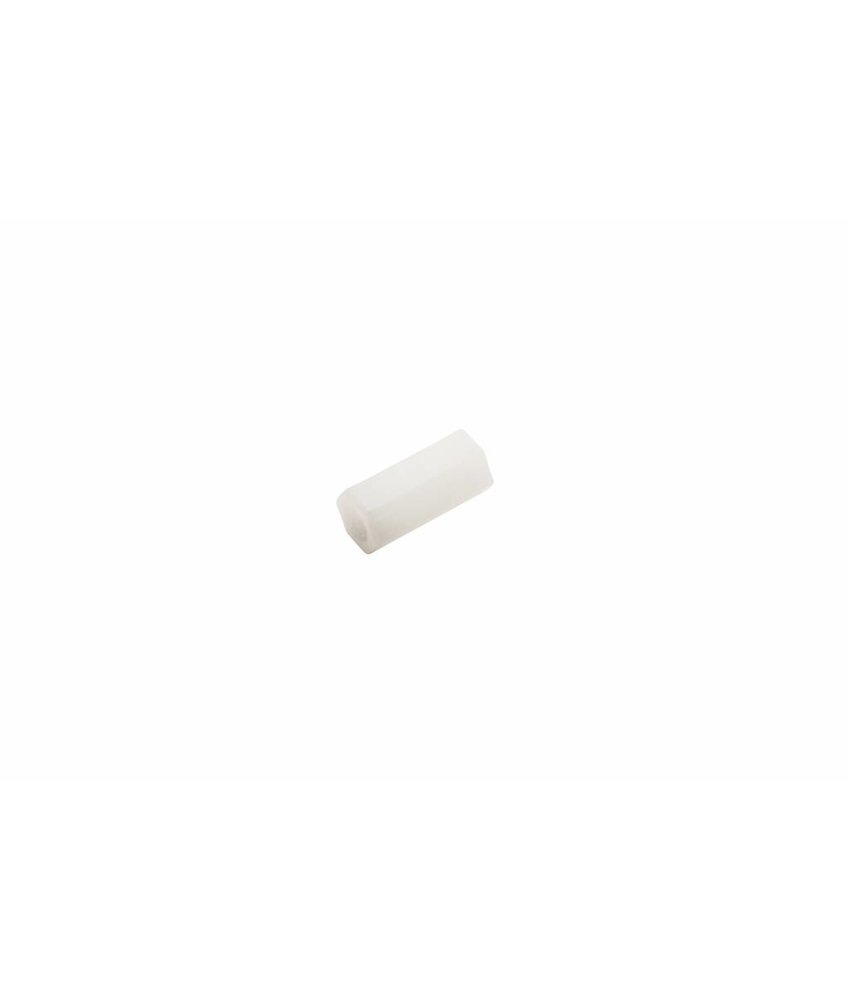 Ultimaker Hexagon Spacer, White, M3x5.5x12 (#1066)