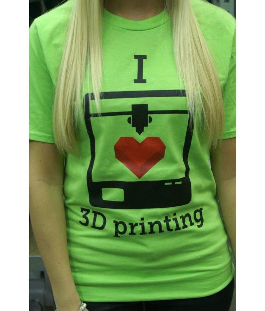 I love 3D printing - t-shirt Large