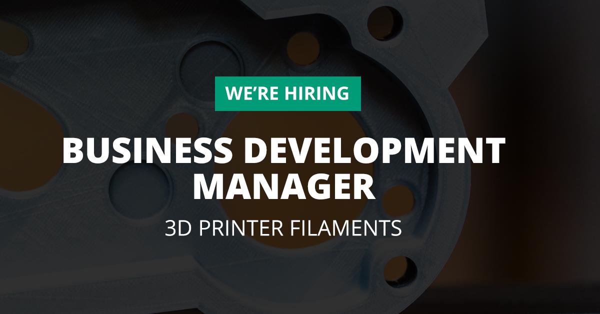 Business Development Manager 3D Printer Filaments
